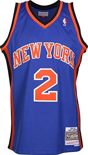 Mitchell & Ness Larry Johnson #2 New York Knicks 1998-99 Swingman NBA Trikot Blau, L (York Knicks Die New)