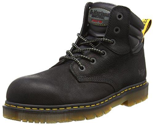 Dr. Martens Unisex-Erwachsene Hynine St Sicherheitsschuhe, Schwarz (Black 001), 42 EU Dr Martens Black Steel Toe Boots