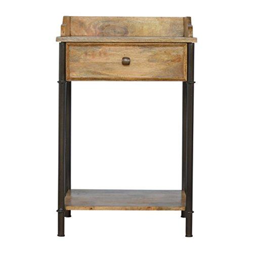 Artisan Möbel Waschtisch mit 1Schublade, Holz, Oak-ish Top/Zinn, 50x 40x 80cm -
