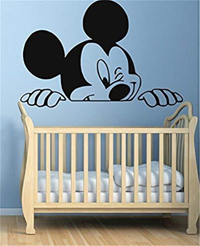 wandaufkleber baum kinderzimmer Lustige Mickey Mouse Wandtattoo für Kinderzimmer Jungen Mädchen Room Decor Vinyl Aufkleber (Mädchen Room Decor)