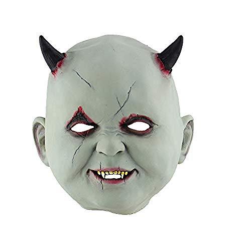 Gruselig Karneval Kostüm - Horrormaske Scream Maske - Fasching Halloween Party Geburtstag Kostüm Karneval Theater, Gruselige Maske