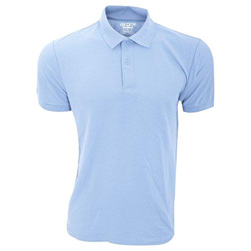 Gildan Herren DryBlend Sport Double Pique Polo Shirt (Small) (Hellblau) (Herren-pique-sport-shirt)