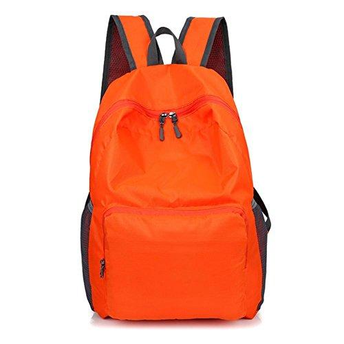 Los hombres y las mujeres pueden doblar bolso de deportes al aire libre bolsa de escalada de nylon impermeable , orange