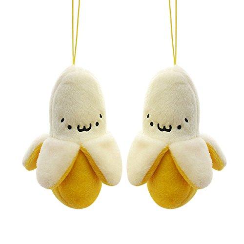 l von New Little 6cm gelb niedlicher Handy Banana gefüllt Plüsch Spielzeug, String Bag Schlüsselanhänger Spielzeug Puppe für WEDDNG Bouquet (Perth Target Stores)