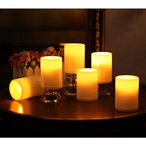 Velas Led Con Temporizador, Sin Llama A Prueba de agua Luz, Con Pilas, Marfil, para el Partido Casero Decoración de La