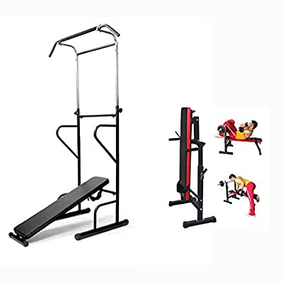 Generic * wer Tower D AB Sit ower To Dip Station Bench Fitness Power T Fitness Power Tower Weight B Sit Pull P Chin Up Bench Bar ght Bench Pull Press ar Weight Bench from Generic
