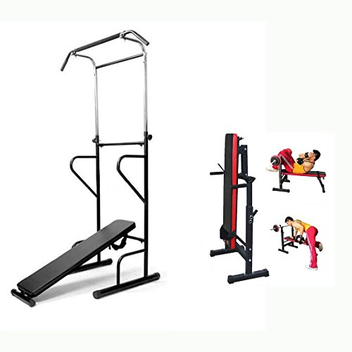 Generic * ESS Power T AB Sit Power Dip Station Bank Fitness Power Tower Weight AB Sitp P Chin up...