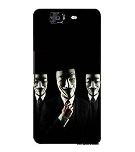 printtech Anonymous Hacker Mask Back Case Cover for Micromax Canvas Knight A350