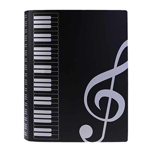 JAGENIE 80 Blatt A4 Notenheft Ordner Piano Partitur Band Choral Insert-Typ Ordner