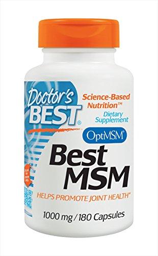 Doctor's Best, Best MSM, 1000 mg, 180 Capsules