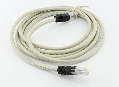 Rhinocables Hochgeschwindigkeits-® CAT6Crossover RJ45Ethernet Grau x-Over-Kabel Netzwerk LAN Cat 6Patch Führen 10m -
