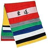 Handtuch mit Schriftzeichen / Kanji Judo 50x100 cm mit bedruckter Bordüre