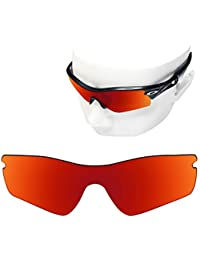 f7e11a3819d0 OOWLIT Replacement Sunglass Lenses for Oakley Radar Path POLARIZED (Fire  Red