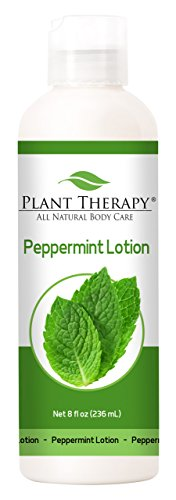 Peppermint Lotion 8 oz Aromatherapy Natural, Made with 100% Pure Essential Oils - Infusion Lotion