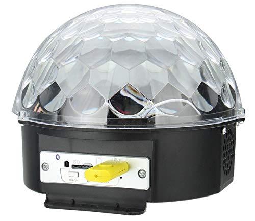 GadgetZone USB Kristallmagie Ball MP3 Fernbedienung LED RGB Lichter Lautsprecher Disco DJ Bühnenbeleuchtung Home Tanz Weihnachtsfeier Ballsaal Club Kneipe Bar Disk fabelhaft Zauber Kugel