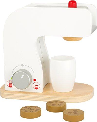 Small Foot 10593 Kaffeemaschine aus Holz mit Dreh- und Druckknöpfen Sowie Kaffeetasse und...