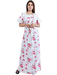 Himashu Handlooms Women's Cotton Floral Maxi Nighty