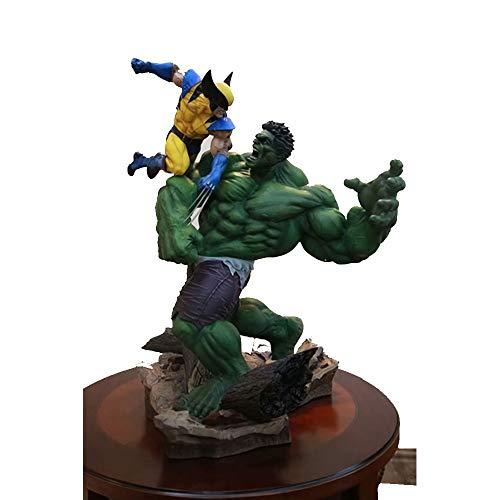 PL Action Figure, Spielzeugmodell Anime Avengers Wolverine VS Hulk Modell Modellierung Szene Ornamente Souvenirs/Sammlerstücke/Handwerk 36 cm Spielzeug Statue