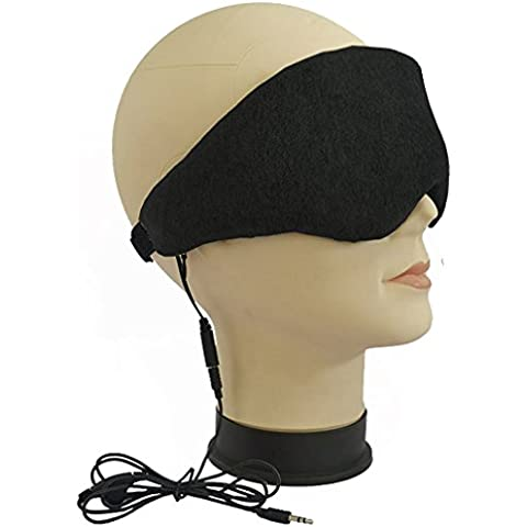 DOLIROX terciopelo atado con alambre con espuma de memoria Sleeping Eye Patch Música ojos Use la máscara de ojo con Embedded Mini Altavoces Auriculares para dormir cancelación de ruido