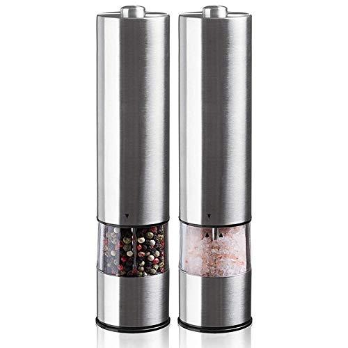 xunlei Pfeffer Mühle Salz- und Pfeffer-Schleifeinheit (2 Packungen) - Verstellbarer Vibrator - Keramikmühle - automatische Einhand -