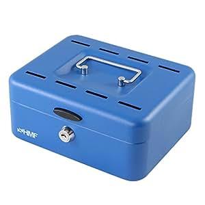 HMF 3088-05 Caisse à Monnaie, cassette d'épargne 20 x 16 x 9 cm , bleu