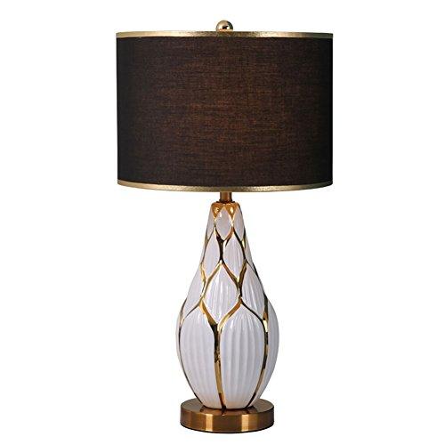 MOPP Oriental Keramik Tischlampe, handbemalt Keramik kreative Lampe, perfekt für alle Wohnzimmer und Schlafzimmer E27 * 1 [Energieklasse A ++] - Handbemalte Mini-lampe