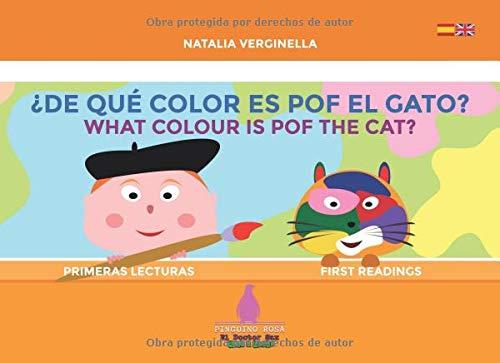 De qué color es Pof el gato? - What colour is Pof the cat?: Español - English