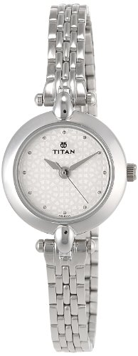 Titan Karishma Analog White Dial Women's Watch -2521SM01