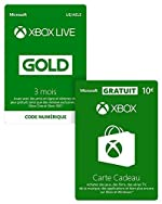 Abonnement Xbox Live Gold 3 mois + 10 EUR GRATUIT - Code jeu à télécharger