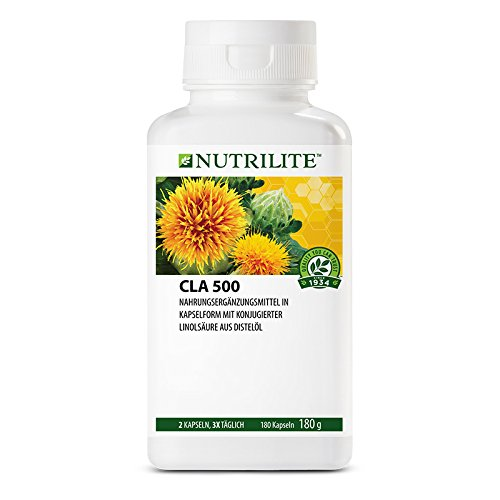 CLA 500 NUTRILITETM - Nahrungsergänzungsmittel mit konjugierter Linolsäure aus reinem Distelöl - 180 Kapseln / 184 g - Amway - (Art.-Nr.: 100280)