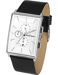 Jacques Lemans Herren-Armbanduhr XL York Chronograph Quarz Leder 1-1818B