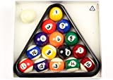 """BCE 41mm (1 5/8"""") Home SMALL SIZE Numbered Spots & Stripes Pool Balls & Triangle"""