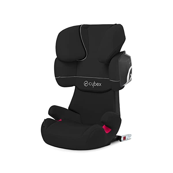CYBEX Silver Solution X2-Fix Child's Car Seat, For Cars with and without ISOFIX, Group 2/3 (15-36 kg), From approx. 3 to approx. 12 years, Pure Black  Sturdy and high-quality child car seat for long-term use - For children aged approx. 3 to approx. 12 years (15-36 kg), Suitable for cars with and without ISOFIX Maximum safety - 3-way adjustable reclining headrest, Built-in side impact protection (L.S.P. System) 11-way adjustable, comfortable headrest, Adjustable backrest, Comfortable seat cushion 1