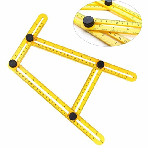 Clode® Multifunktionale Maßband Bandmaß Winkel Modell Winkel Lineal Kunststoff Mess Tool (Gelb)