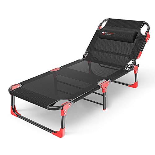 Sessel ZR- Lounge Chaise-Bett 4 Einstellbare Liegepositionen Zusammenklappbares Campingbett Mit Abnehmbarem Kissen Für Camping Pool Beach, Unterstützt 380lbs -