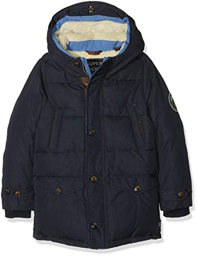 Scotch & Soda Jungen Jacke Quilted Jacket with Hood & Teddy Lining in Longer Length