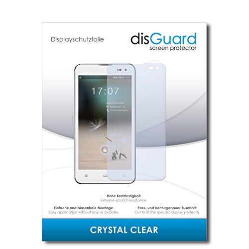 disGuard® Bildschirmschutzfolie [Crystal Clear] kompatibel mit Hisense HS-U971AE [4 Stück] Kristallklar, Transparent, Unsichtbar, Extrem Kratzfest, Anti-Fingerabdruck - Panzerglas Folie, Schutzfolie