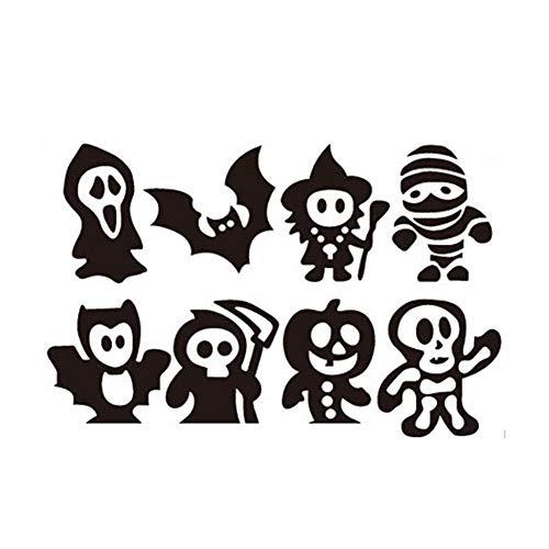 Halloween Deko Grusel Dekoration Set Halloween Kinderparty Ball Cartoon Ghost Wandaufkleber 1 Pack für Halloweendeko Make-up-Party Halloween Dekoration