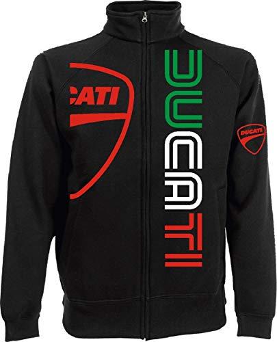 Generico Veste Ducati Logo m1 Motards Rider Hypermotard Monster Scrambler Panigale Motorrad de S à XXL et 4 Couleurs Disponible - Noir, L