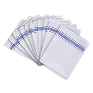 Cotton Catering Tea Towels Pack of 10 Kitchen Restaurant Bar Glass Cloths