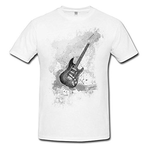 E-Gitarre T-Shirt Herren, Men mit Stylischen Motiv von Paul Sinus - Gitarre Kleinkind Tee