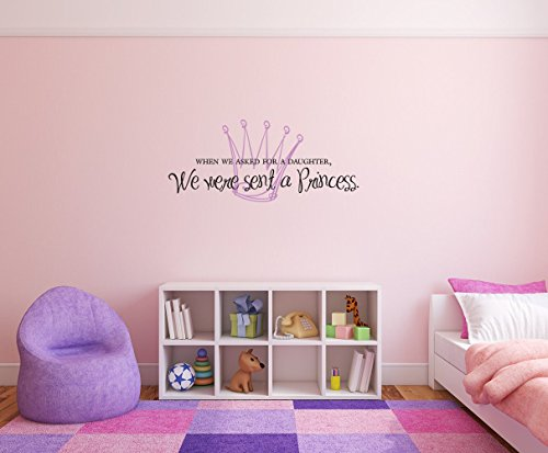 wandaufkleber schlafzimmer When we asked for a daughter we were sent a princess Removable Wall Decal Sticker DIY Art Décor for Home Nursery Kids' Girl's Room Decals