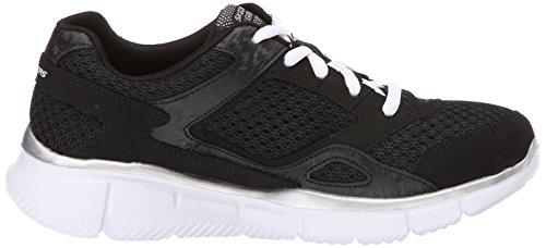 Skechers Equalizer, Chaussures de sports en salle garçon Noir (Bkw)