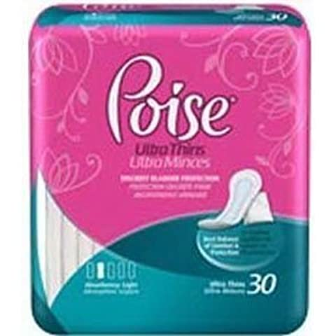 Poise Ultra Thin Pads, 8-1/2 (Bag of 30) by Kimberly-Clark