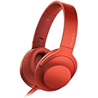 Sony MDR-100AAP Over-Ear 3.5mm Wired Headphones (Red)