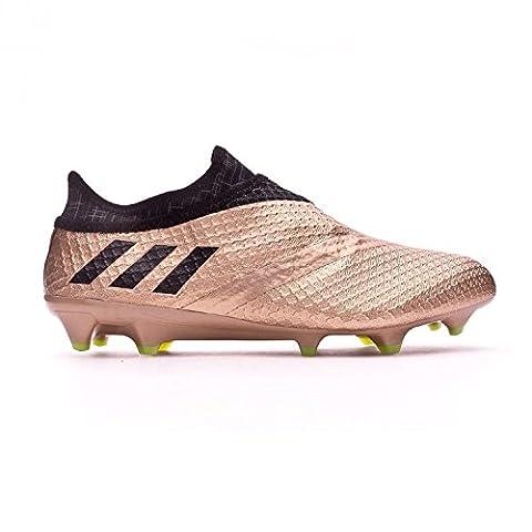 Adidas Messi 16+ Pure Agility FG - Crampons de Foot - Cuivre métalisé/Noir/Vert Solaire - taille 42