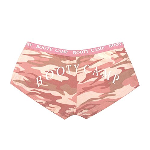 Rothco Women's Booty Shorts/Booty Camp, Baby Pink/Camo, Small Pink Camo Booty