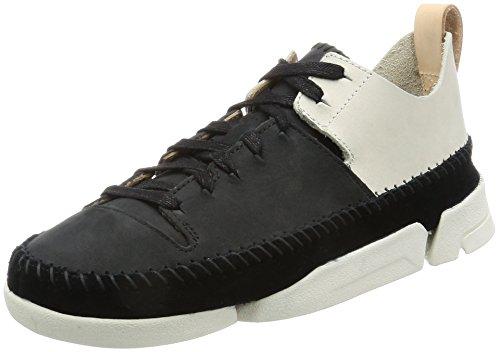 Clarks Damen Trigenic Flex Sneakers Schwarz (Black Combi Nbk)
