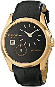 Tissot Couturier Men's Black Dial Leather Automatic Watch - T035.428.36.05
