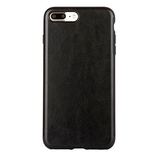 Hülle für iPhone 7 plus , Schutzhülle Für iPhone 7 Plus Crazy Horse Texture PU + TPU Schutzmaßnahmen zurück Fall ,hülle für iPhone 7 plus , case for iphone 7 plus ( Color : White ) Black